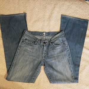7 For All Mankind Flare Jeans Sz 27